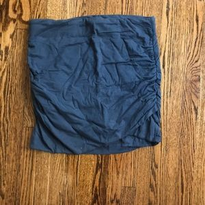 Blue cotton mini skirt super soft